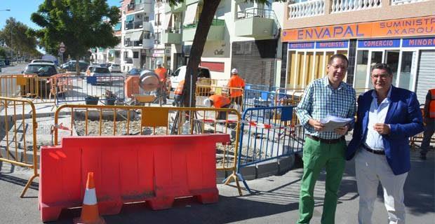 Comienzan las obras del plan de empleo de mejora del for Oficina de empleo velez malaga