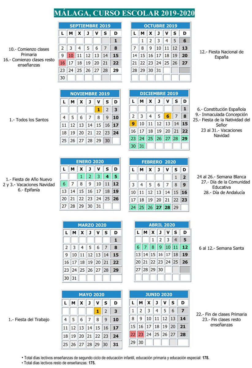 Calendario Escolar 2020 19 Almeria.El Curso Escolar 2019 2020 Comenzara El 10 De Septiembre Axarquiaplus